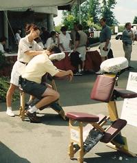 touchback massage at golf tournament